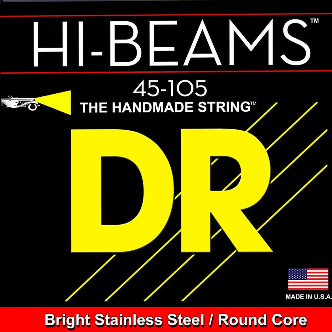 DR Strings MR-45 Hi-Beam Bass Strings 45-105, Medium Scale