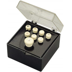 Martin 18APP45 Brdige Pin Set, White, Pearl-Inlay