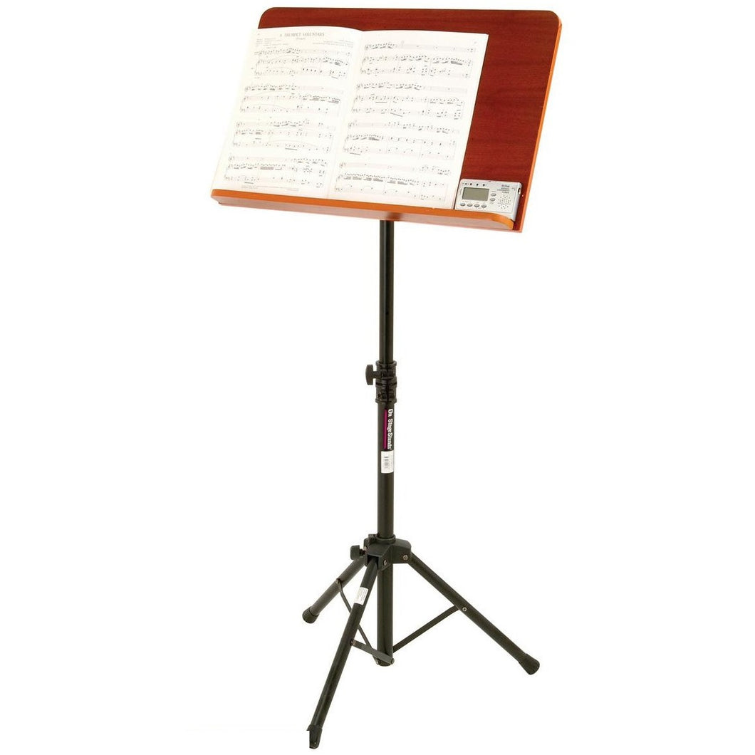 On-Stage SM7312W Conductor Music Stand with Wooden Back