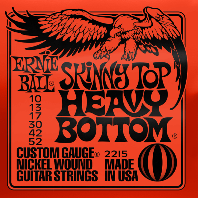 Ernie Ball 2215 Skinny Top Heavy Bottom Slinky Nickel Wound Electric Guitar Strings 10-52 Gauge