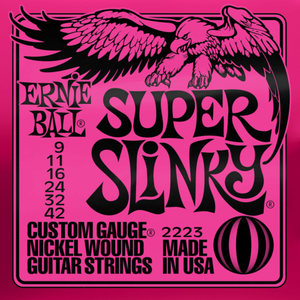 Ernie Ball 2223 Super Slinky Nickel Wound Electric Guitar Strings 9-42 Gauge