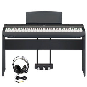Yamaha P125B Digital Piano Bundle, Black