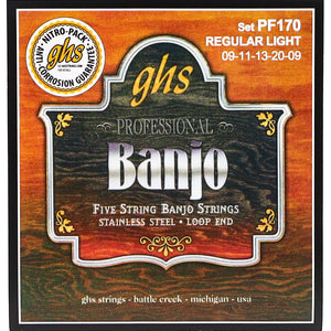 GHS PF170 Banjo 5-string Set