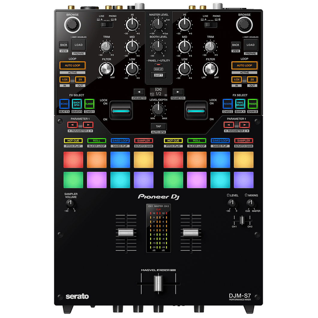 Pioneer DJM-S7 Scratch Style 2-channel Performance DJ Mixer w/ Bluetooth