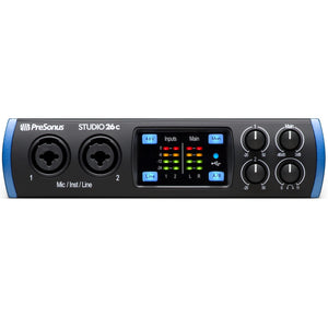 Presonus STUDIO26C 2x4 USB-C / 192kHz Audio Interface with 2 XMAX-L preamps