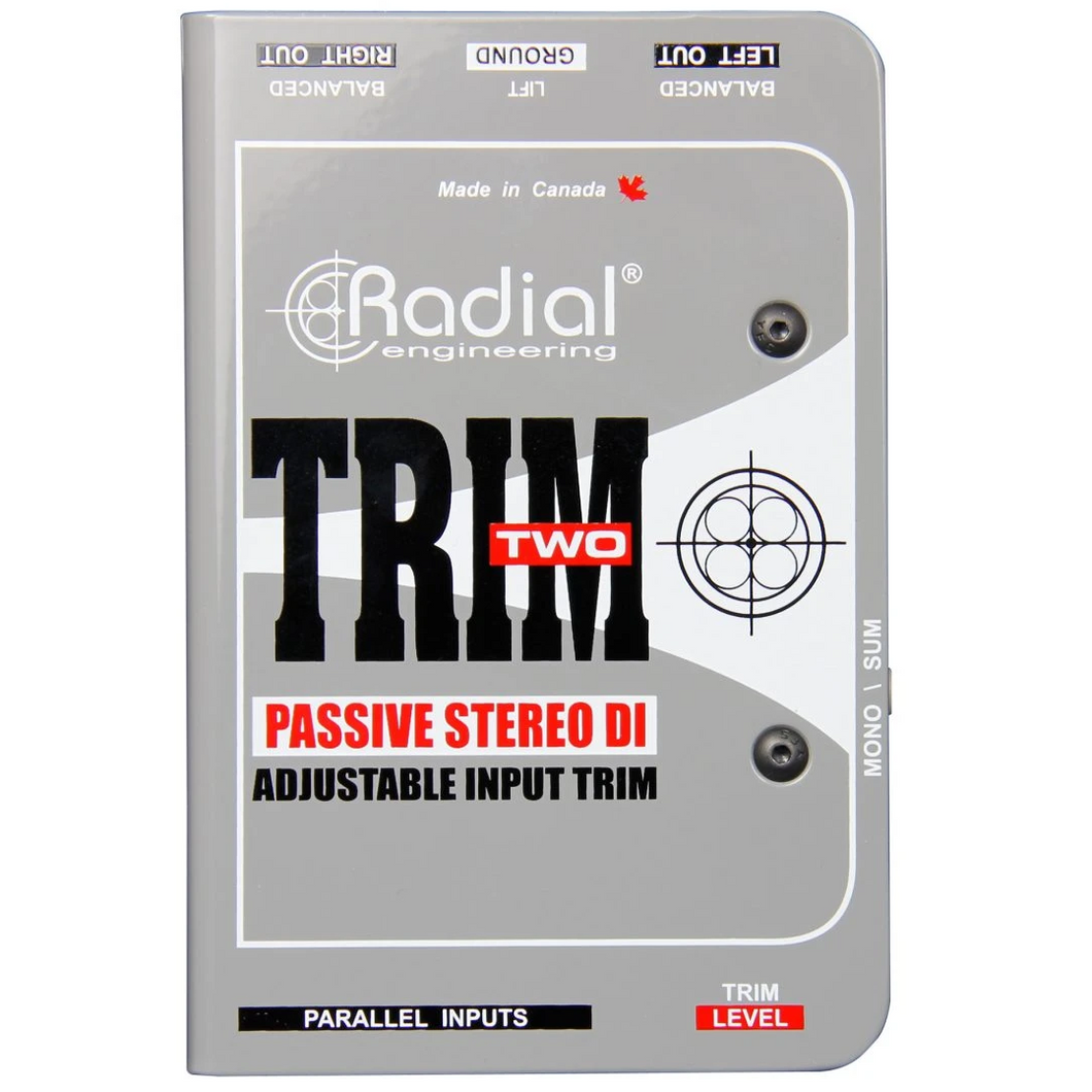 Radial Engineer R8001117 Trim-Two, Passive DI for AV with Level Control