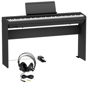 Roland FP-30X-BK 88-key Digital Piano Essentials Bundle, Black