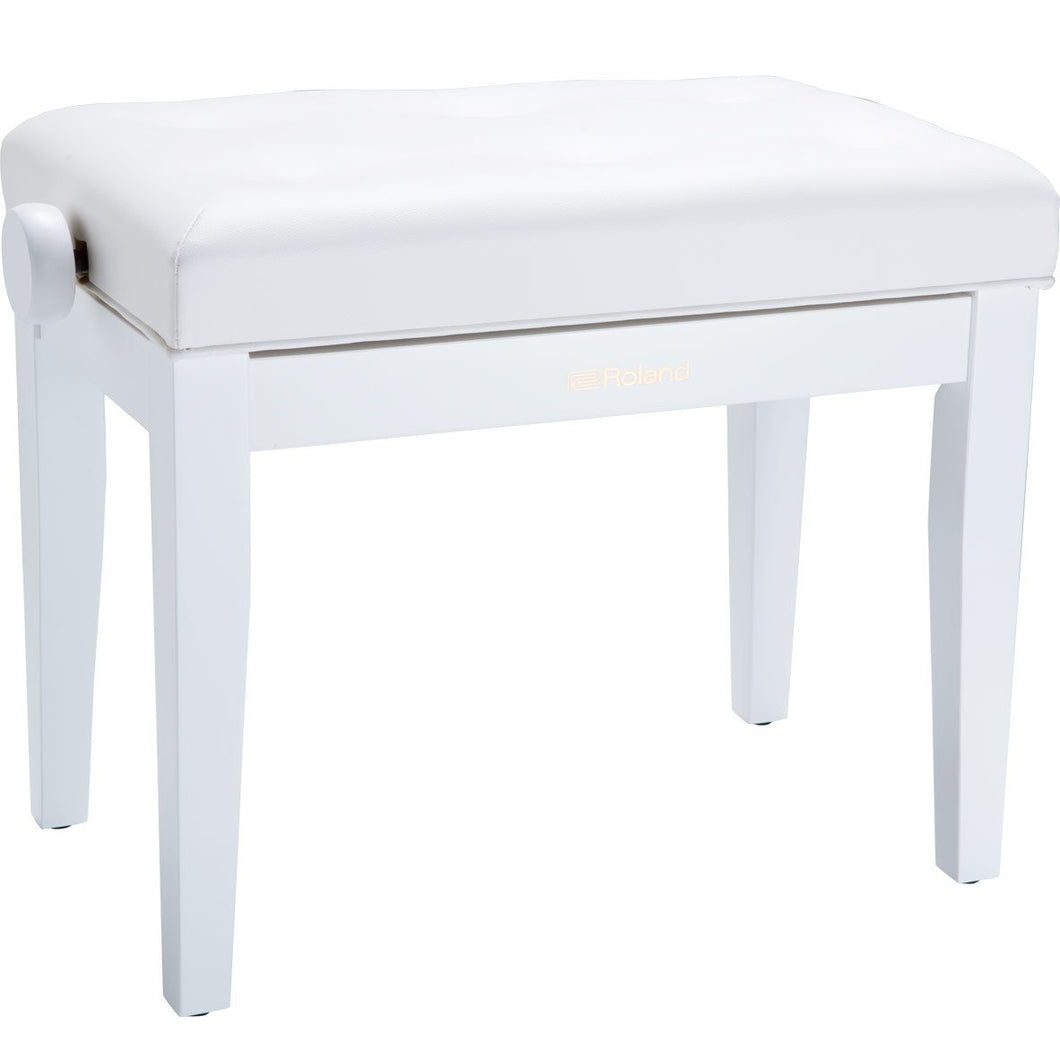 Roland RPB-300WH-US Piano Bench, Satin White, Vinyl Seat