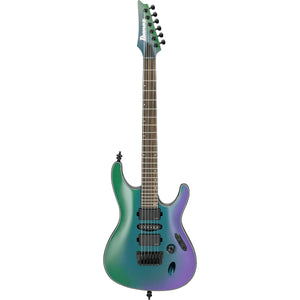 Ibanez S671ALBBCM S Axion Label Nyatoh Body - Fluence Pickups, Blue Chameleon