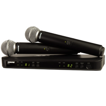 Load image into Gallery viewer, Shure BLX288/SM58-H10 Dual Channel Handheld Wireless System with (2) SM58 Handheld Mics (542-572 MHz)