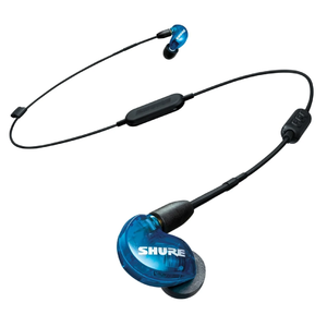 Shure SE215SPE-B-BT1 Special Edition Bluetooth Sound Isolating Earphones, Translucent Blue
