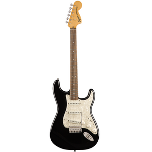 Squier 037-4020-506 Classic Vibe 70s Strat Electric Guitar, LRL, Black