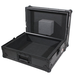ProX T-TTBL Universal Technics 1200 Style Turntable Case, Black On Black