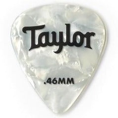 Taylor 80712 Taylor Celluloid 351 Picks, White Pearl, 0.46mm, 12-Pack