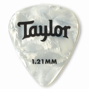 Taylor 80715 Taylor Celluloid 351 Picks, White Pearl, 1.21mm, 12-Pack