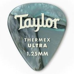 Taylor 80739 Taylor Premium 351 Thermex Ultra Picks, Abalone, 1.25mm, 6-Pack