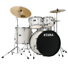 Load image into Gallery viewer, Tama IE52CVWS Imperialstar 5pc Complete Kit, 10, 12, 16, 22, 14s, Vintage White Sparkle