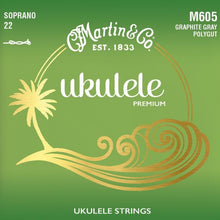 Load image into Gallery viewer, Martin M605 Soprano Ukulele Polygut Strings