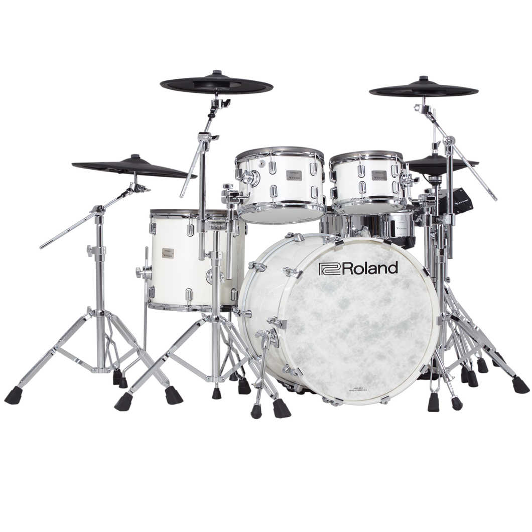 Roland VAD706-PW Flagship V-Drums Acoustic Design Kit with TD-50X, Pearl White
