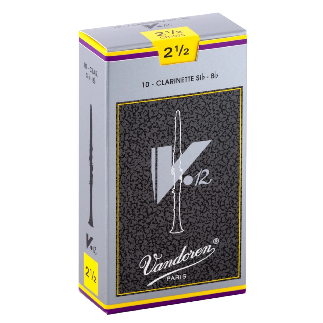 Vandoren CR1925 V-12 Bb Clarinet Reeds - Strength 2.5 (Box of 10)