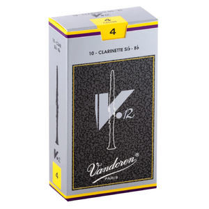Vandoren CR194 V-12 Bb Clarinet Reeds - Strength 4 (Box of 10)
