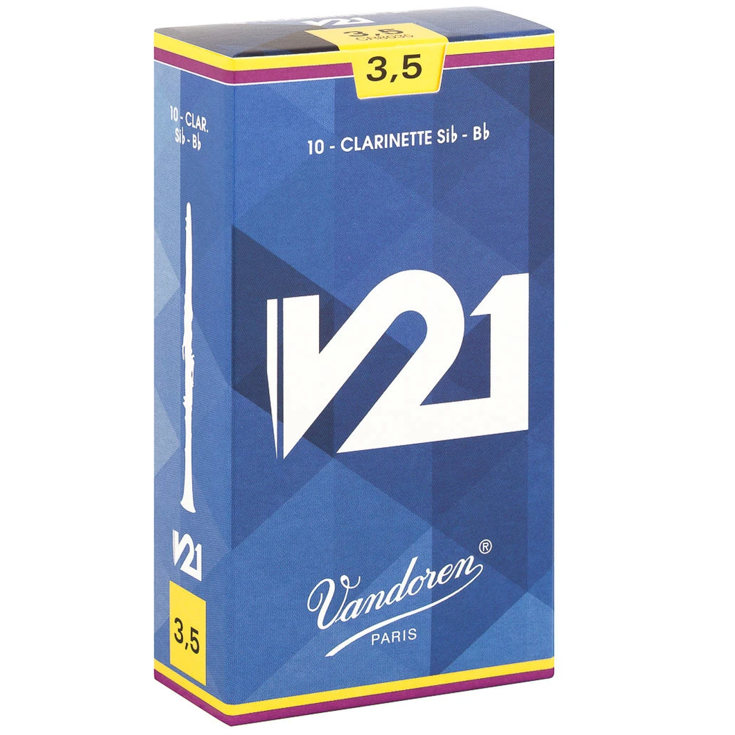 Vandoren CR8035 V21 Bb Clarinet Reeds - Strength 3.5 (Box of 10)