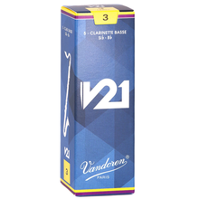 Load image into Gallery viewer, Vandoren CR823 V21 Bb Bass Clarinet Reeds - Strength 3 (Box of 5)