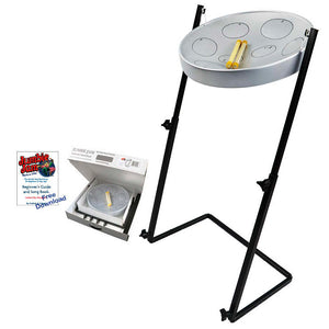 Panyard W1158 Jumbie Jam Kit with Metal Z-Floor Stand, Silver Pan
