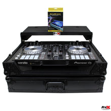 Load image into Gallery viewer, ProX XSDDJSR2LTBLLED DJ Case for DDJ-SR2, BLACK on BLACK-W/ Laptop Shelf & LED Kit