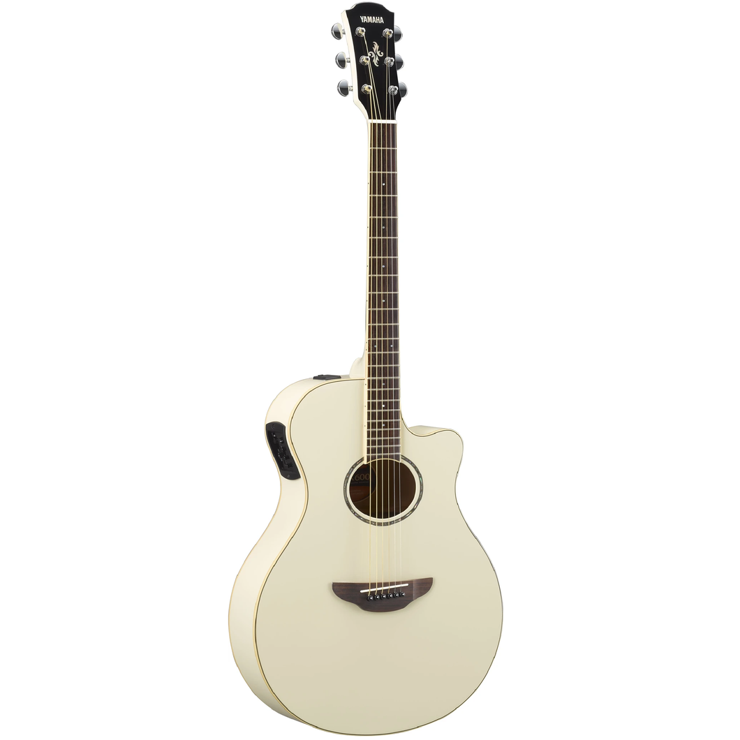 Yamaha APX600-VW Thinline Acoustic Electric Guitar, Vintage White