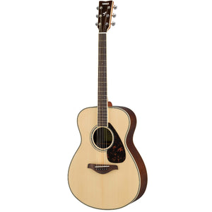 Yamaha FS830 Small Body Solid Spruce Top Acoustic Guitar, Natural