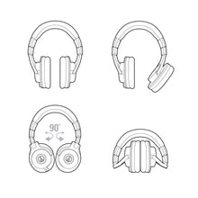 Load image into Gallery viewer, Audio-technica ATH-M40X Closed-back Studio Headphone, Flat