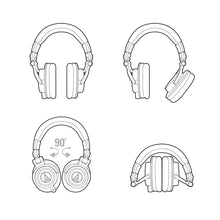 Load image into Gallery viewer, Audio-Technica Audio-technica ATH-M50X Pro Closed-back Headphone, Full - Easy Music Center