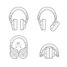 Load image into Gallery viewer, Audio-Technica Audio-technica ATH-M50XWH Pro Closed-back Headphone, Full, White - Easy Music Center