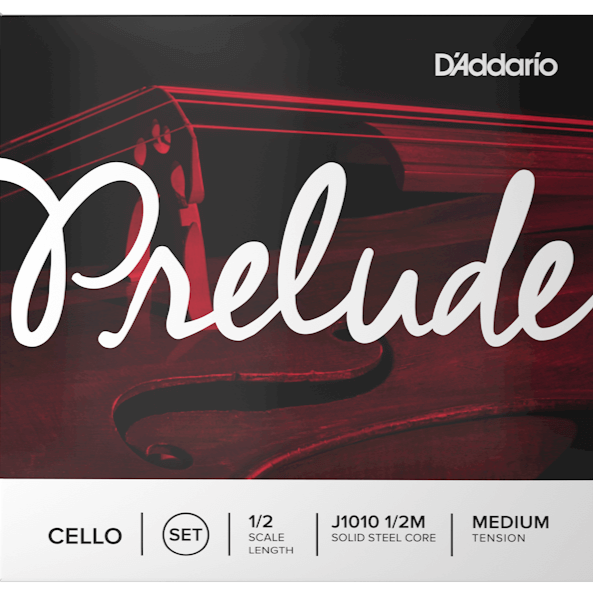 D'addario J1010-1/2M Prelude Cello String Set, 1/2 Scale, Medium Tension