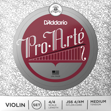 Load image into Gallery viewer, D'addario J56-4/4M Proarte Violin Set 4/4 Med