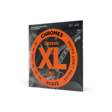 Load image into Gallery viewer, D'Addario ECG23 Chromes Flat Wound Electric Guitar Strings, Extra Light, 10-48
