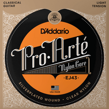 Load image into Gallery viewer, D'Addario EJ43 Pro-Arte Nylon Classical Guitar Strings, Light Tension, Tie-end