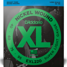 Load image into Gallery viewer, D'Addario EXL220 Nickel Wound Bass Guitar Strings, Super Light, 40-95, Long Scale