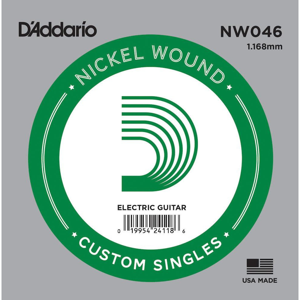 D'Addario NW046 Nickel Wound Electric Guitar Single String, .046