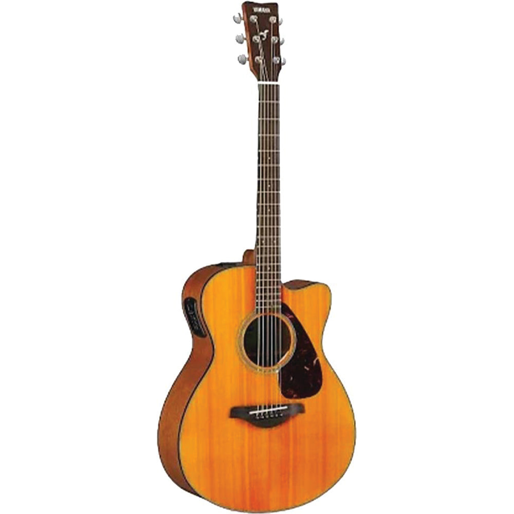Yamaha FSX800C-VN Small Body, Cutaway Acoustic/Electric, Solid Spruce Top, Vintage Natural