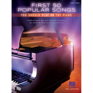 Hal Leonard HL00131140 First 50 Popular Songs You Should Play on the Piano