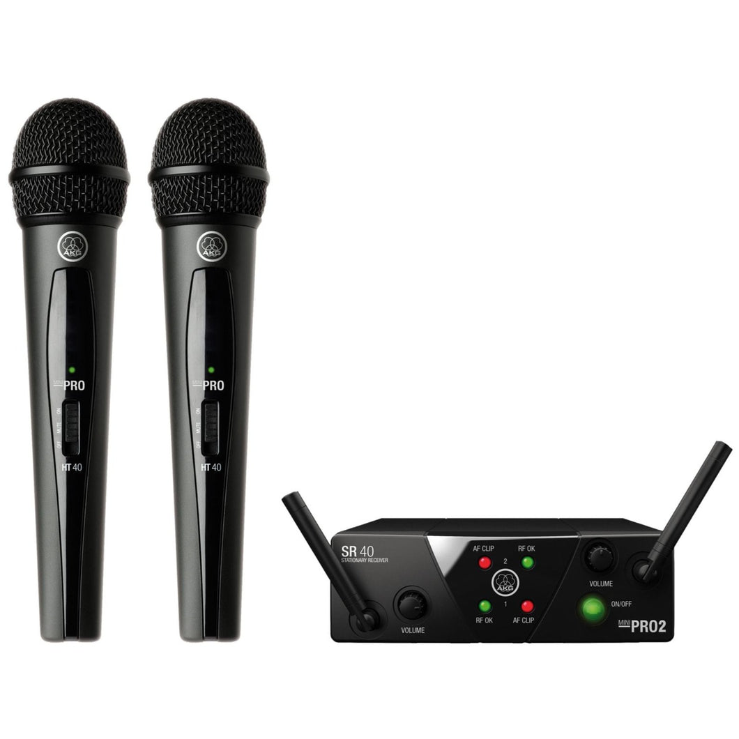 AKG WMS40MINI2-V-BD Dual Wireless Vocal Microphone System, Band BD