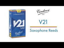 Load and play video in Gallery viewer, Vandoren SR823 V21 Tenor Sax Reeds - Strength 3 (Box of 5)