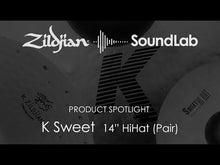 "Load and play video in Gallery viewer, Zildjian K0720 14"" K Zildjian Sweet Hi-hat Cymbals"