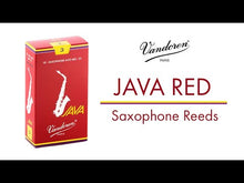 Load and play video in Gallery viewer, Vandoren SR2635R Java Red Alto Sax Reeds - Strength 3.5 (Box of 10)