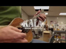 Load and play video in Gallery viewer, Kala KA-JTE/MTW Tenor Spruce Top Mahogany Archtop Ukulele, Metallic White