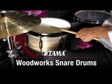 Load and play video in Gallery viewer, Tama WP148BK 8x14 Poplar Woodworks Snare Drum, Black