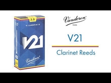 Load and play video in Gallery viewer, Vandoren CR823 V21 Bb Bass Clarinet Reeds - Strength 3 (Box of 5)
