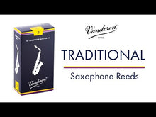 Load and play video in Gallery viewer, Vandoren SR222 Traditional Tenor Sax Reeds - Strength 2 (Box of 5)